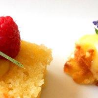 Summer Salted Pound Cake with Lavender Lemon Curd