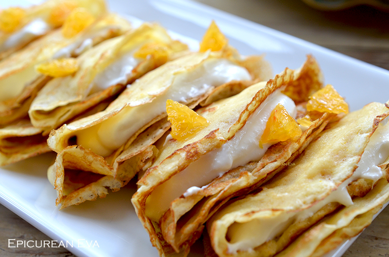Blood Orange & Ricotta Crepes Suzette | Epicurean Eva