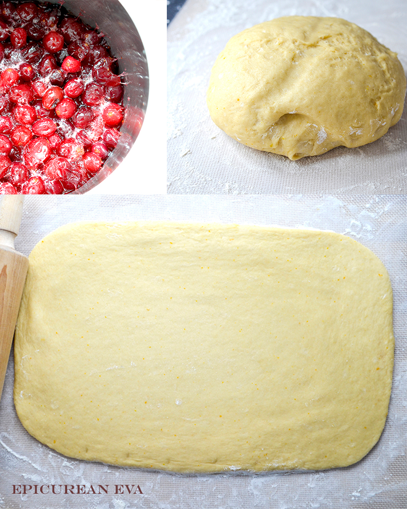 cranberries-and-dough-collage