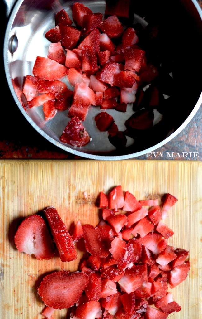 Cut-strawberries-in-pan