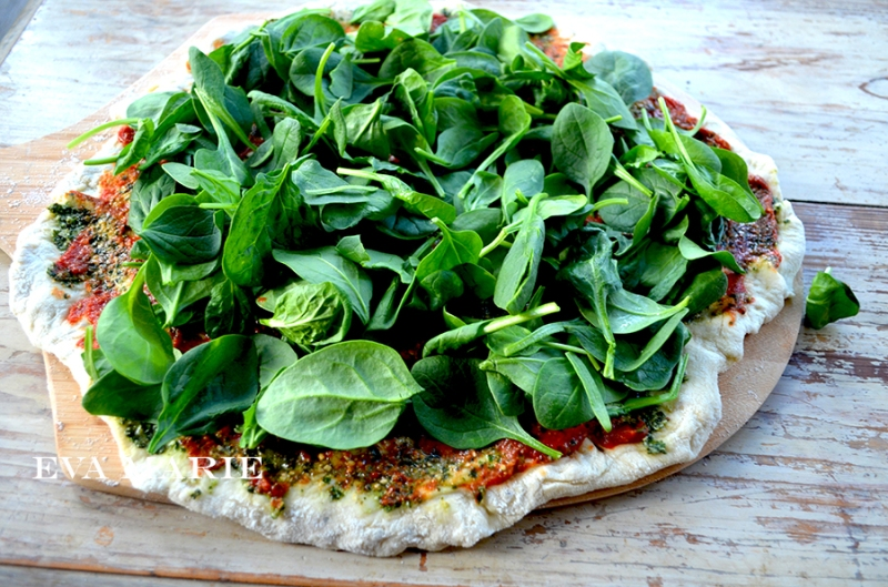 pizza-w-spinach